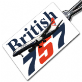 British Airways 757 Retro Crew Tag
